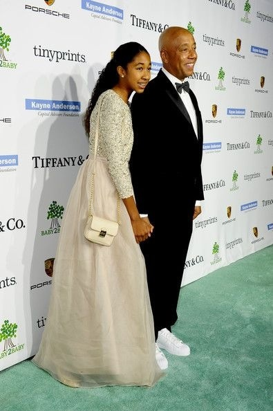 Russell Simmons et sa fille au gala baby2baby