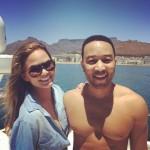 John Legend et Chrissy Teigen savourent leur séjour en Afrique Du Sud