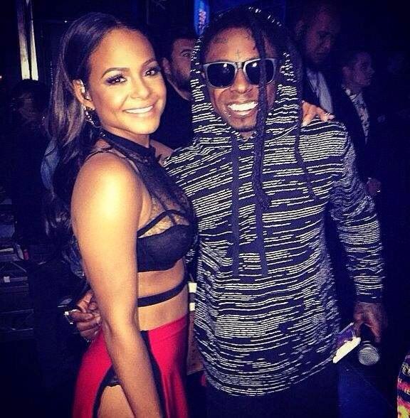 Christina Milian et Lil Wayne AMA Awards 2014