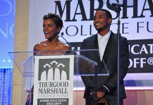 Trey Songz et sa mère au gala Thurgood