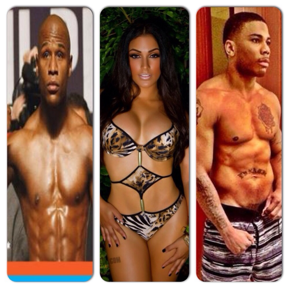 Floyd Mayweather, Shantel Jackson, Nelly
