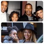 Beyonce accompagnée de Jay-Z et Blue Ivy assiste à l'avant-première de Annie The Remake