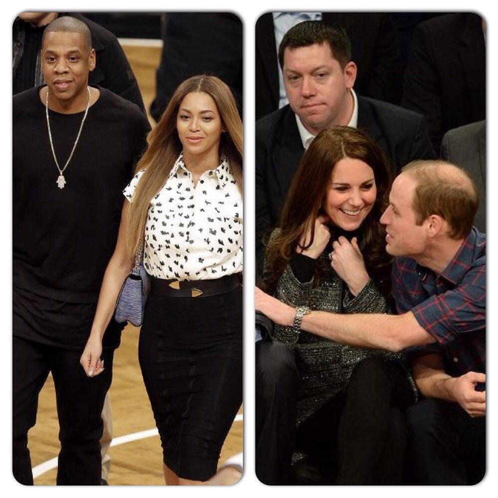 Beyonce et Jay-Z rencontrent Kate et William lors d'un match de Cleveland