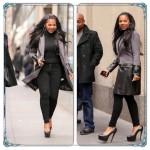 Ashanti affronte le froid new-yorkais pour se rendre sur le plateau de The Today Show