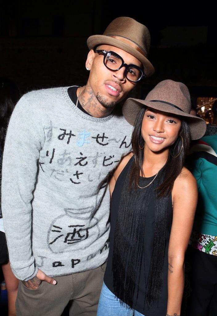 Chris Brown et Karrueche Tran au concert de Jhene Aiko