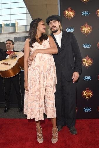 Zoe Saldana et Marco Perego