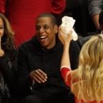 Jay-Z et Beyonce souriant face à la défaite des Brooklyn Nets?