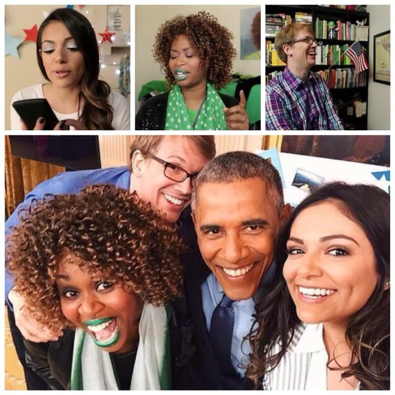 Barack Obama rencontre des bloggers
