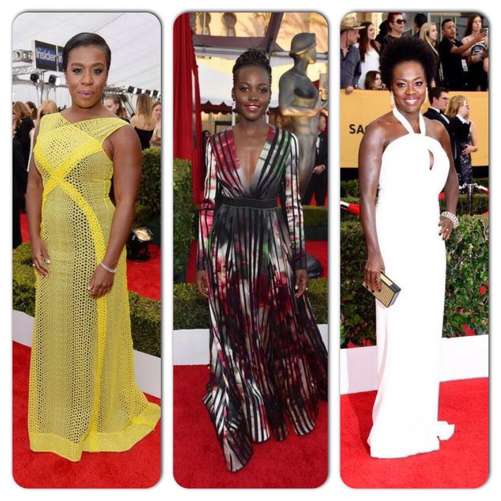 Uzo Aduba, Lupita Nyong'o et Viola Davis SAG Awards 2015