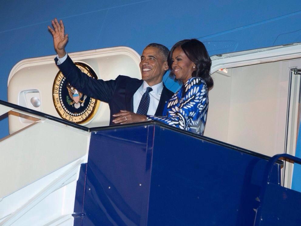 Michelle et Barack Obama en visite en Arabie Saoudite
