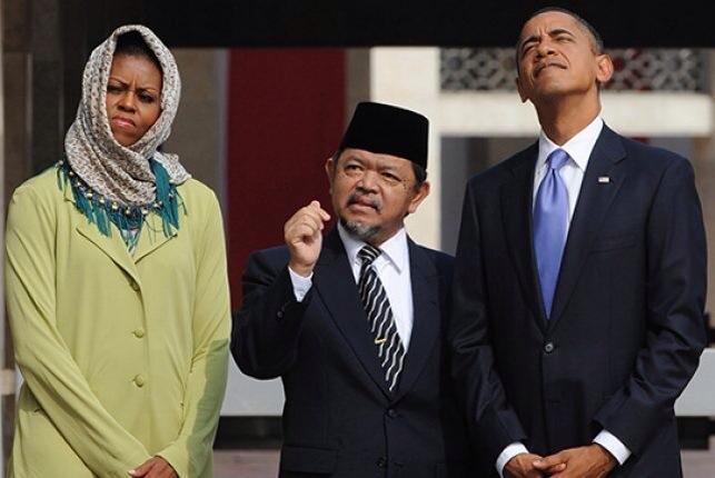 Michelle et Barack Obama à Jakarta
