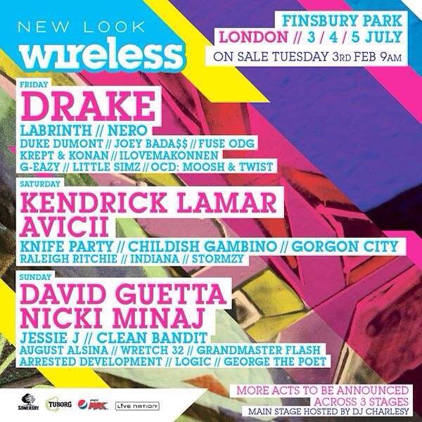 Nicki Minaj, Drake et Kendrick Lamar