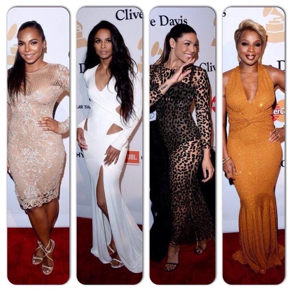 Mary J. Blige, Ciara, Jennifer Hudson, Jordin Sparks au dîner avant les Grammy Awards 2015