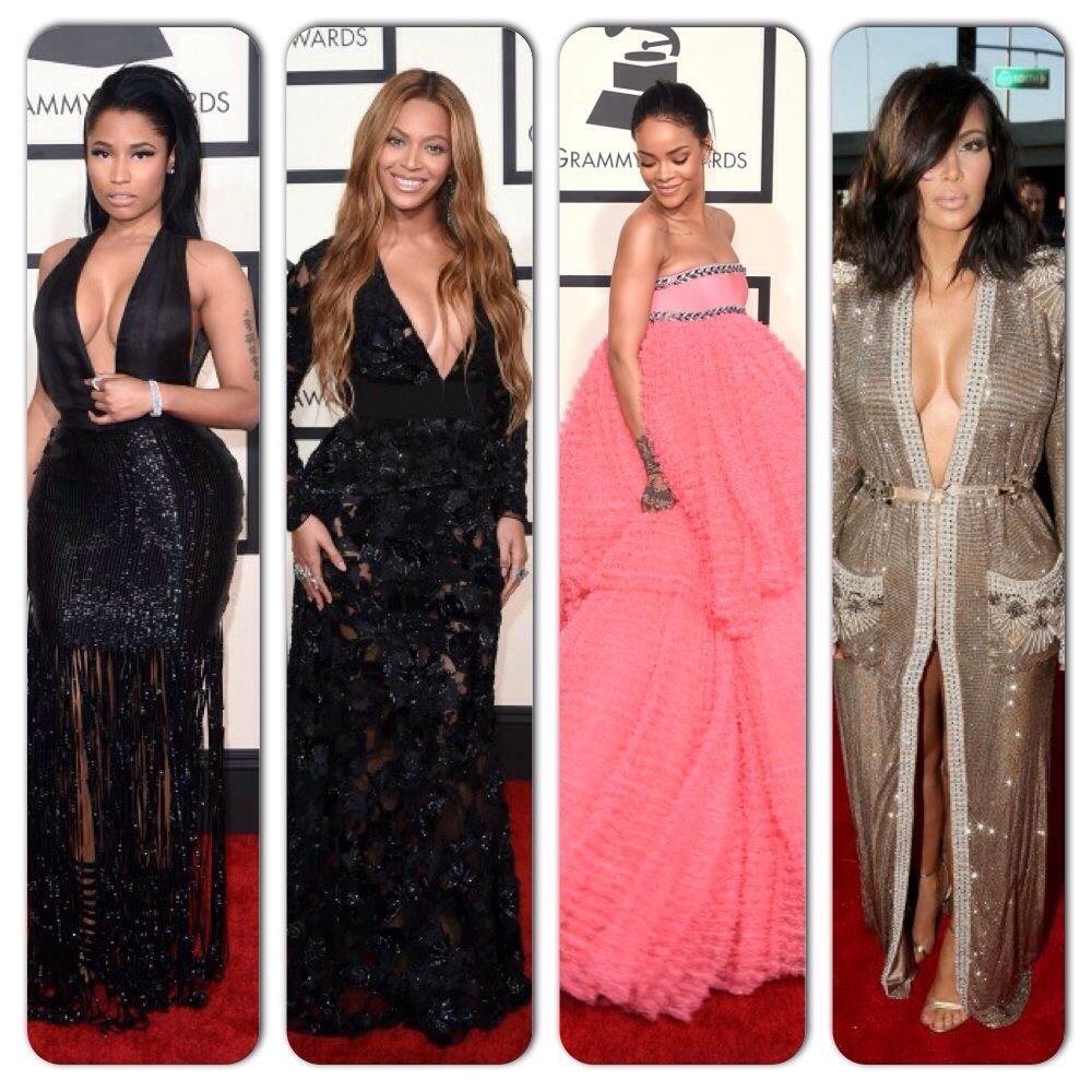 Beyonce, Rihanna, Kim Kardashian, Nicki Minaj Grammy Awards 2015