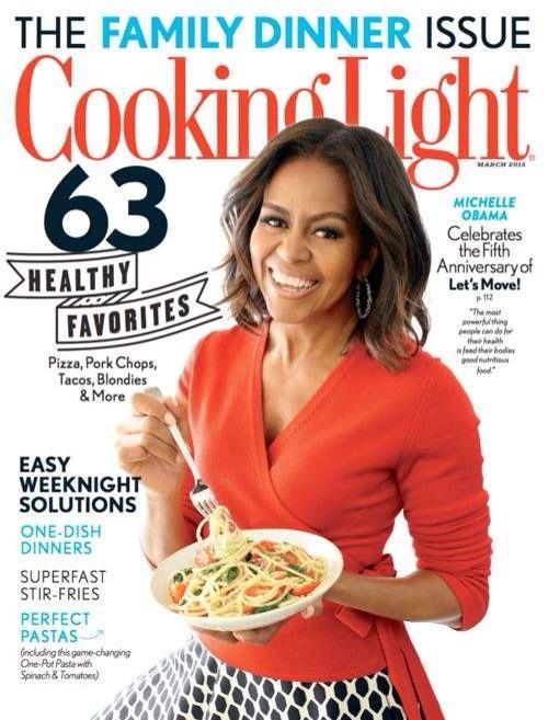 Michelle Obama Cooking Light Magazine