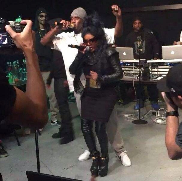 lil kim et Diddy au Madison Square Garden