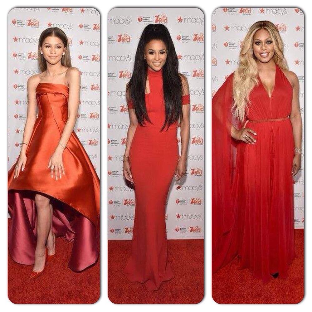 Zendaya Coleman, Ciara New york fashion week Women Red Dress