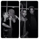 Beyonce, Jay-Z, Ariane Grande Jhene Aiko à la première écoute de nouveau single de Big sean