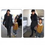 Jennifer Hudson à l'aéroport de Los Angeles avec son fils