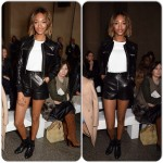 Jourdan tout en cuir à la London Fashion Week
