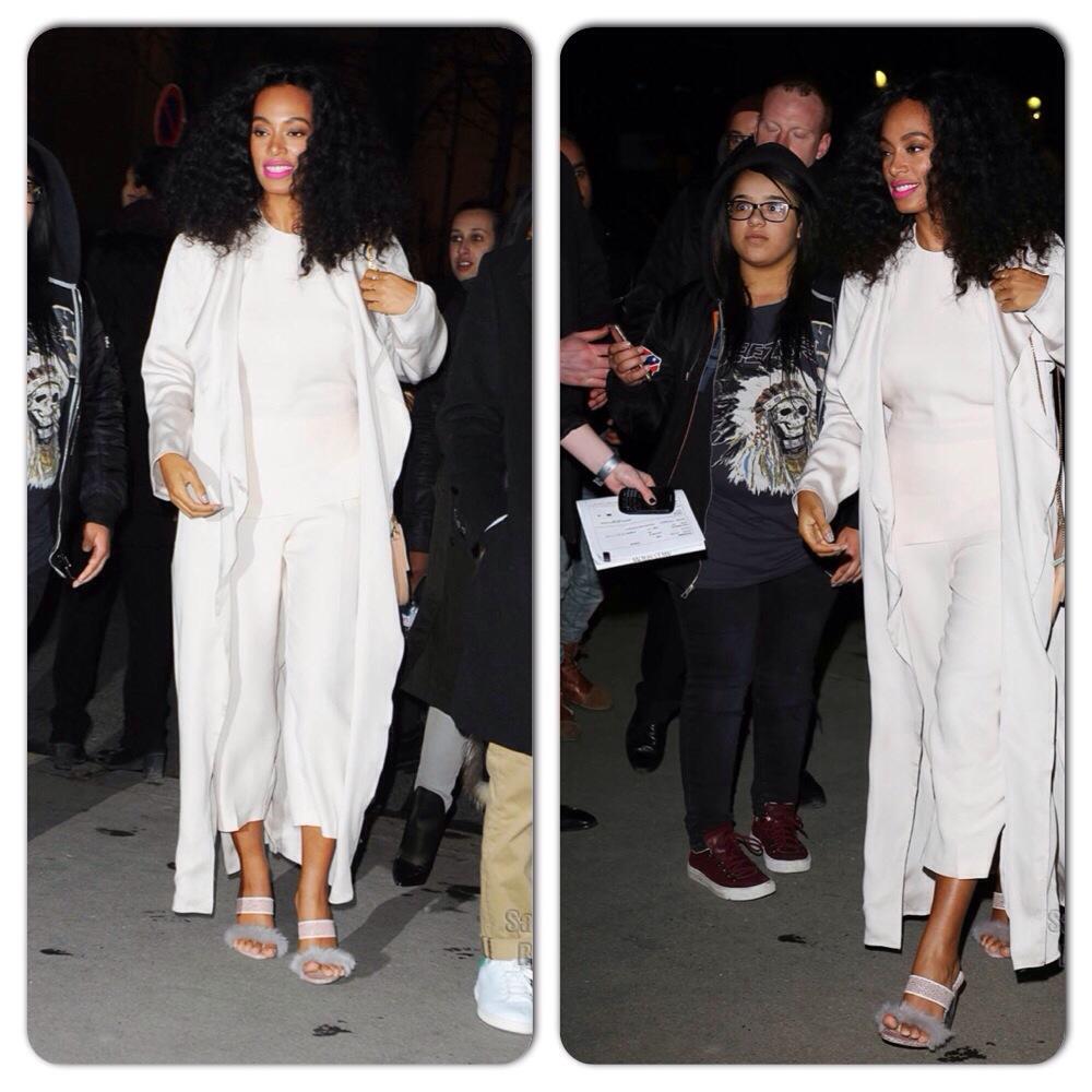 Solange Knowles Paris Fashion Week