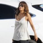 Halle Berry se rend sur le plateau du tournage de Extant