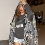 Rihanna toute bronzée, est de retour en Californie