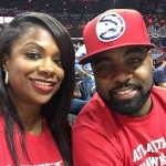 Kandi Burruss et Todd Tucker organise une piscine party pour suivre le match Mayweather Pacquiao et encourage les Hawks d'Atlanta