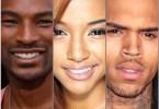Tyson Beckford, Karrueche Tran, Chris Brown