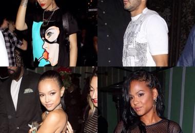 Rihanna, Karim Benzema, Karrueche Tran, Christina Milian