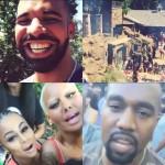 Drake oragnise un barbecue géant avec plusieurs invités sont l'ex couple Amber Rose Kanye West