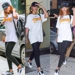 Rihanna s'accorde un moment de gym après une longue séance de travail nocturne