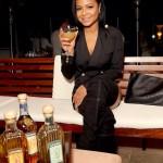 Christina Milian en mode H&M Balmain lors d'un évènement Gran Centenario Tequila