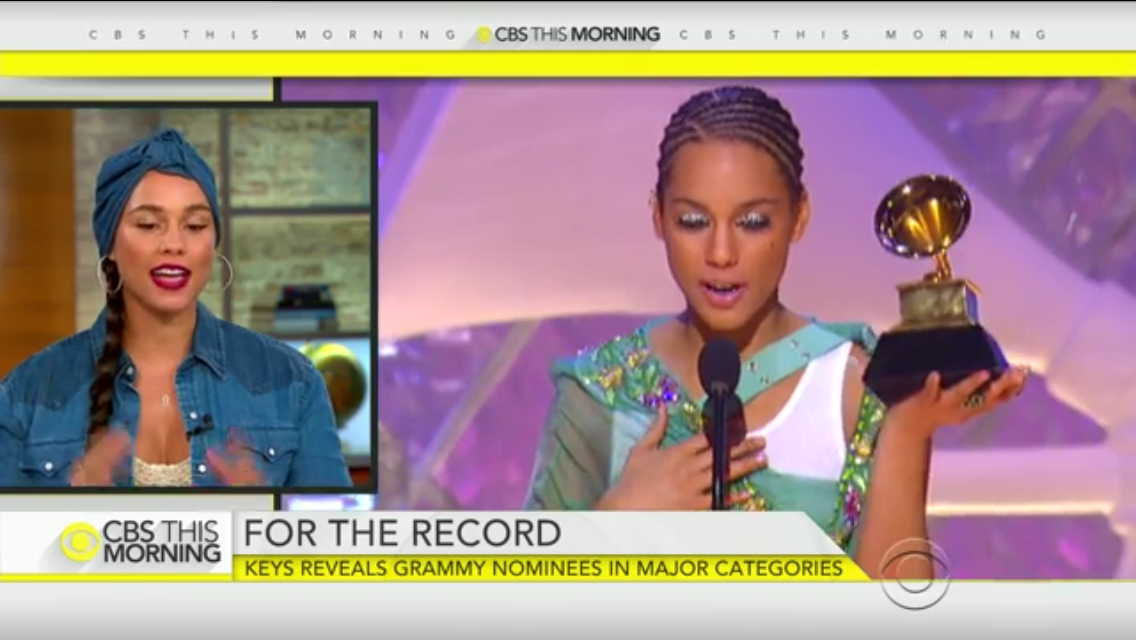 Alicia Keys CBS This Morning