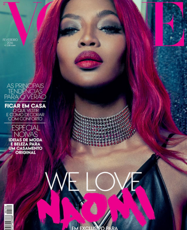 Naomi Campbell covers Vogue Magazine in Portugal