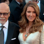 Celine Dion at the memorial service for her late husband Montreal