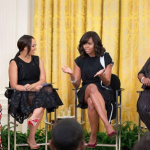 "Michelle Obama sat down with ""The Real"" hosts at the White House"