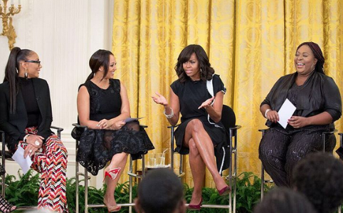 The Real hosts with Michelle Obama