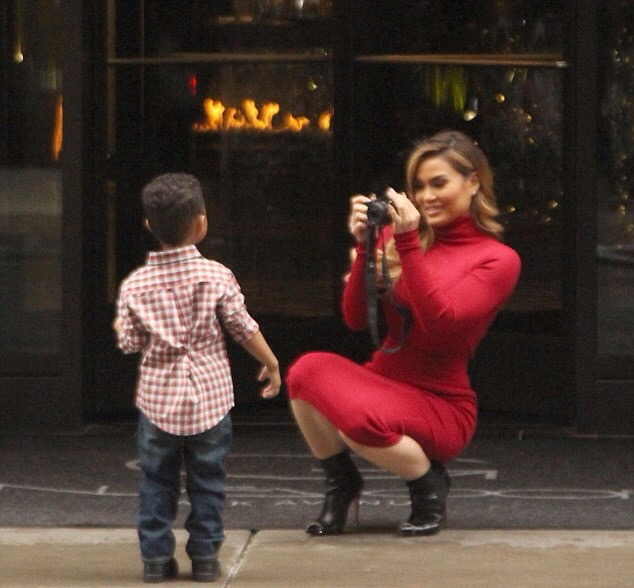 Daphne Joy and her son Rice