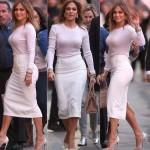 Jennifer Lopez looking beautiful as she was heading to Jimmy Kimmel Studio