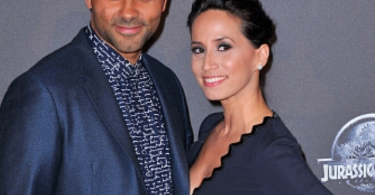 Tony Parker and his wife Axelle Francine