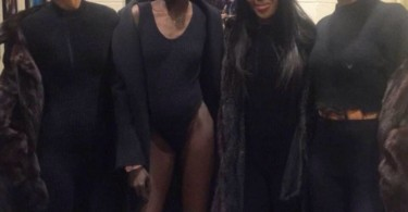 Naomi Campbell at Kanye West new collection launch