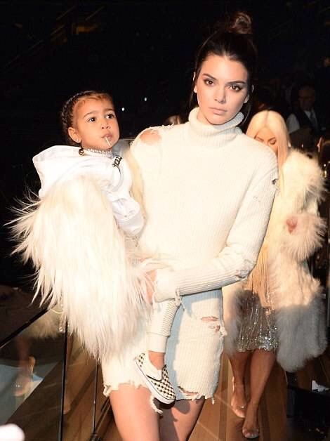 Kendall Jenner and North West