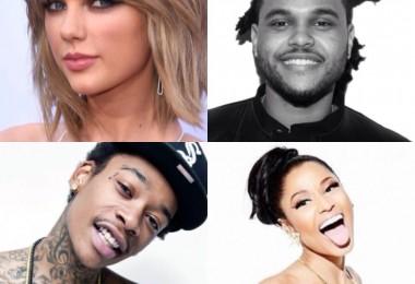 Taylor Swiftn The Weeknd, Wiz Khalifa, Nicki Minaj