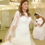 Woman in a man's body Caitlyn Jenner is modelling in a wedding dress