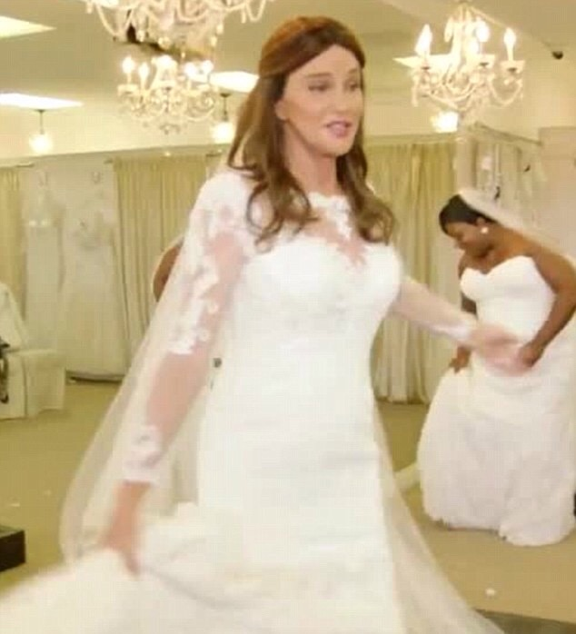 Caitlyn Jenner in a wedding dress