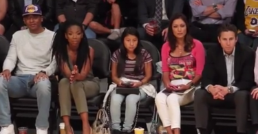 Brandy at the Lakers Game