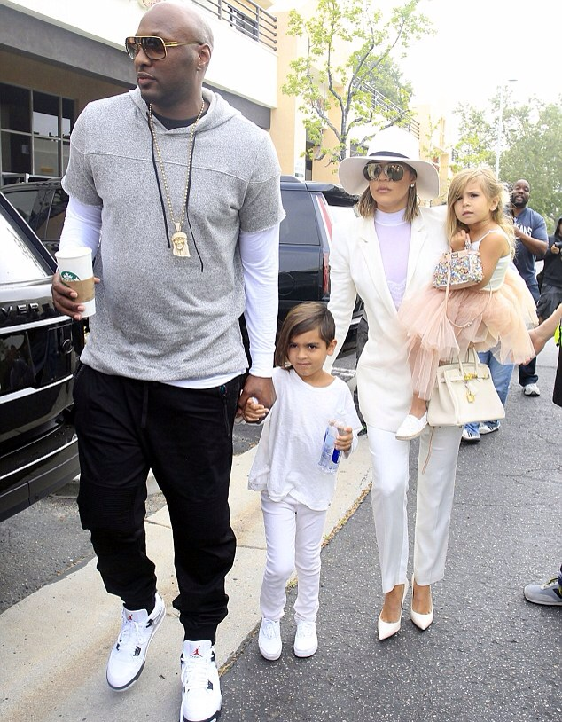 Lamar Odom, Khloe Kardashian and the kids going to Easter service
