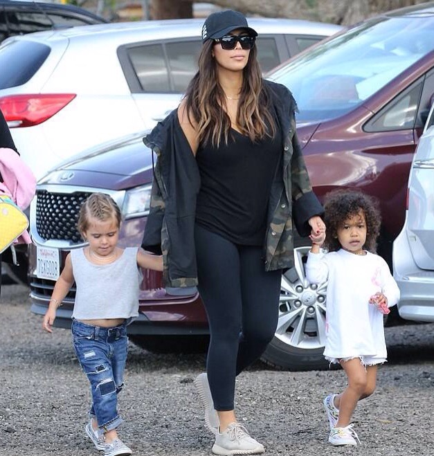 Kim Kardashian, North West and Penelope Disick