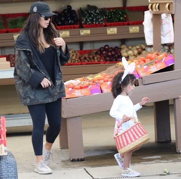 Kim Kardashian and North West Easter Hunt